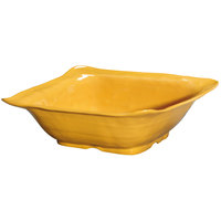 GET ML-131-TY New Yorker 4.25 qt. Tropical Yellow Square Catering Bowl - 13 inch