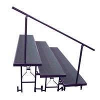 National Public Seating SGR3L Side Guardrail for Standard 3-Level Risers