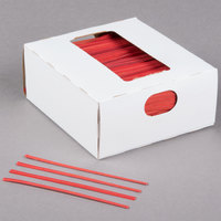Bedford Industries Inc. 4 inch Red Laminated Bag Twist Ties - 2000/Box