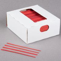 Bedford Industries Inc. 4 inch Red Laminated Bag Twist Ties - 2000/Box