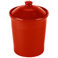 Homer Laughlin 572326 Fiesta Scarlet Medium 2 Qt. Canister with Cover - 2 / Case