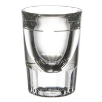 Libbey 5127/S0710 1.5 oz. Fluted Whiskey / Shot Glass with 3/4 oz. Cap Line - 12 / Pack