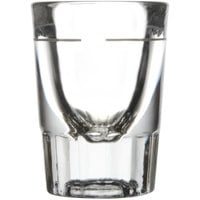Libbey 5127/S0710 1.5 oz. Fluted Whiskey / Shot Glass with .75 oz. Cap Line   - 12/Pack