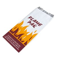 Bagcraft Papercon 300481 Foil BBQ Bag Qt. Size with 'Flame Pak' Design - 1000/Case