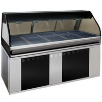 Alto-Shaam EU2SYS-72/PR SS Stainless Steel Cook / Hold / Display Case with Curved Glass and Base - Right Self Service, 72 inch
