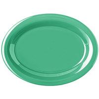 Carlisle 4308209 Durus 12 inch Meadow Green Oval Melamine Platter - 12/Case