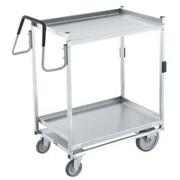 Vollrath 97207 Heavy-Duty Stainless Steel 2 Shelf Utility Cart - 44 inch x 23 inch x 44 1/2 inch