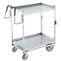 Vollrath 97207 Heavy-Duty Stainless Steel 2 Shelf Utility Cart - 44 inch x 23 inch x 44 1/2 inch