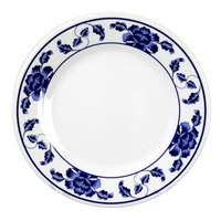 Lotus 14 3/8 inch Round Melamine Plate - 12 / Pack
