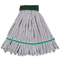 Unger ST300 SmartColor RoughMop 11 oz. Green Light Duty Microfiber String Mop Head