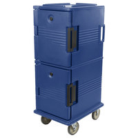 Cambro UPC800186 Ultra Camcarts® Navy Blue Insulated Food Pan Carrier - Holds 12 Pans