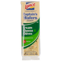 Lance Captain's Wafers Cream Cheese and Chives Sandwich Crackers 20 Count Box   - 6/Case