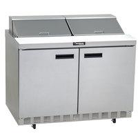Delfield 4448N-12 48 inch 2 Door Refrigerated Sandwich Prep Table