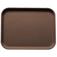 Cambro 3253CT138 Camtread® 13 inch x 21 inch Tavern Tan Non-Skid Serving Tray - 12/Case