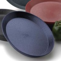 HS Inc. HS1058SB 13 inch Blueberry Polypropylene Oval Deli Server with Short Base - 48/Case