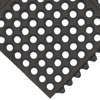 Cactus Mat 2523-C VIP Prima 3' x 3' Black Connectable Anti-Fatigue Floor Mat - 1/2 inch Thick