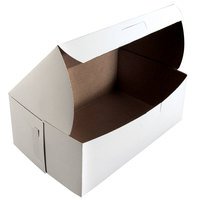 Southern Champion 925 8 inch x 5 inch x 3 inch White Cake / Bakery Box - 250/Bundle