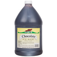 Fox's 1 Gallon Chocolate Italian Ice Syrup Base   - 4/Case
