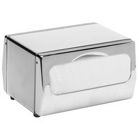 San Jamar H4000XC Minifold Two-Sided Tabletop Napkin Dispenser - Chrome