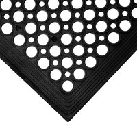 3' x 5' Black Anti-Fatigue Floor Mat with Beveled Edge - 3/8 inch Thick