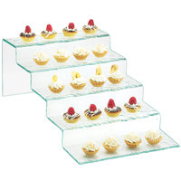 Cal-Mil 1463 Glacier Faux Glass 5 Tier Stair-Step Riser - 11 1/2 inch x 20 inch x 7 inch
