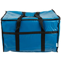 Choice Insulated Food Pan Carrier, Blue Vinyl, 23 inch x 13 inch x 15 inch