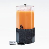 Cal Mil 153-3-16 3 Gallon Classic Octagon Beverage Dispenser with Gray Granite Base - 11 1/4 inch x 11 1/4 inch x 22 1/2 inch