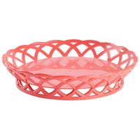 GET RB-860-RO Rio Orange Round 10 1/2 inch Plastic Fast Food Basket 12 / Pack