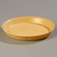 Carlisle 652667 WeaveWear Tan Round Plastic Serving Basket 12 inch 1.8 Qt. 12 / Case
