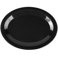 Carlisle 3308203 Sierrus 12 inch x 9 1/4 inch Black Oval Melamine Platter - 12/Case
