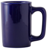 Tuxton BCM-1007 DuraTux 10 oz. Texan Cobalt China Mug - 24/Case