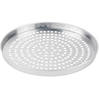 American Metalcraft SPA4011 11 inch x 1 inch Super Perforated Standard Weight Aluminum Straight Sided Pizza Pan