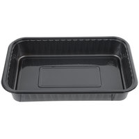 Genpak 55357 Bake 'N Show Dual Ovenable 6 inch x 8 1/2 inch x 1 1/2 inch Brownie / Cake Pan - 250/Case