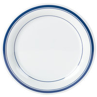 Carlisle 43005912 Mosaic Durus 9 inch London on White Narrow Rim Melamine Plate - 24/Case