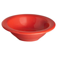 Thunder Group CR5044PR Pure Red 4 oz. Melamine Salad Bowl - 12/Pack