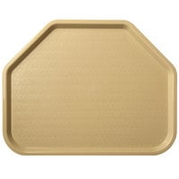 Carlisle CT1713TR06 Customizable Cafe 14 inch x 18 inch Beige Trapezoid Plastic Fast Food Tray - 12/Case
