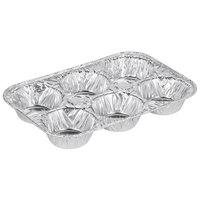 D&W Fine Pack E14 6 Cavity Standard Foil Muffin Pan   - 500/Case