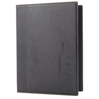 American Metalcraft Securit MCTWLSBL Faux Leather Wine Card - Black