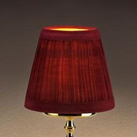 Sterno Products 85436 5 1/8 inch x 4 1/2 inch Small Wine Cloth Lamp Shade