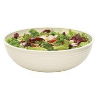 Cambro RSB15CW148 11.2 Qt. White Camwear Round Ribbed Bowl