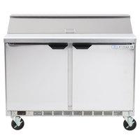 Beverage-Air SPE48-12 Elite Series 48 inch 2 Door Refrigerated Sandwich Prep Table