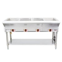 APW Wyott SST4 Stationary Steam Table - Four Pan - Sealed Well, 208V