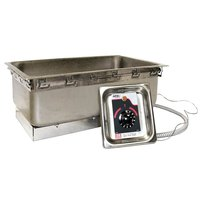 APW Wyott TM-43D-UL 4/3 Size Uninsulated One Pan Drop In Hot Food Well with Drain and UL Electrical Kit - 120V