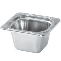 Vollrath 8264220 Miramar® 1/6 Size Satin Finish Decorative Food Pan - 4 inch Deep