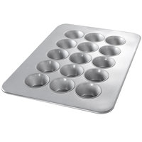 Chicago Metallic 47005 15 Cup Glazed Customizable Oversized Pecan Roll Pan - 17 7/8 inch x 25 7/8 inch