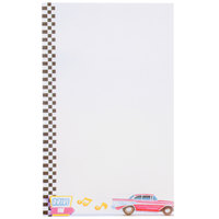 8 1/2 inch x 14 inch Menu Paper - Retro Themed Jukebox Design Left Insert - 100/Pack