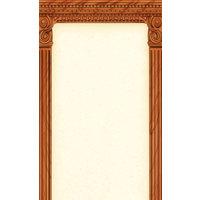 8 1/2 inch x 14 inch Menu Paper - Mediterranean Themed Column Design - 100/Pack