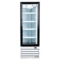 "Avantco GDC10 21"" White Swing Glass Door Merchandiser Refrigerator with LED Lighting"