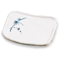 Blue Bamboo Melamine Square Plate – 5 1/2 inch x 4 3/4 inch 12 / Pack