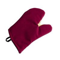 San Jamar KT0218 Cool Touch Flame Red Conventional Oven Mitt with Kevlar® – 17 inch